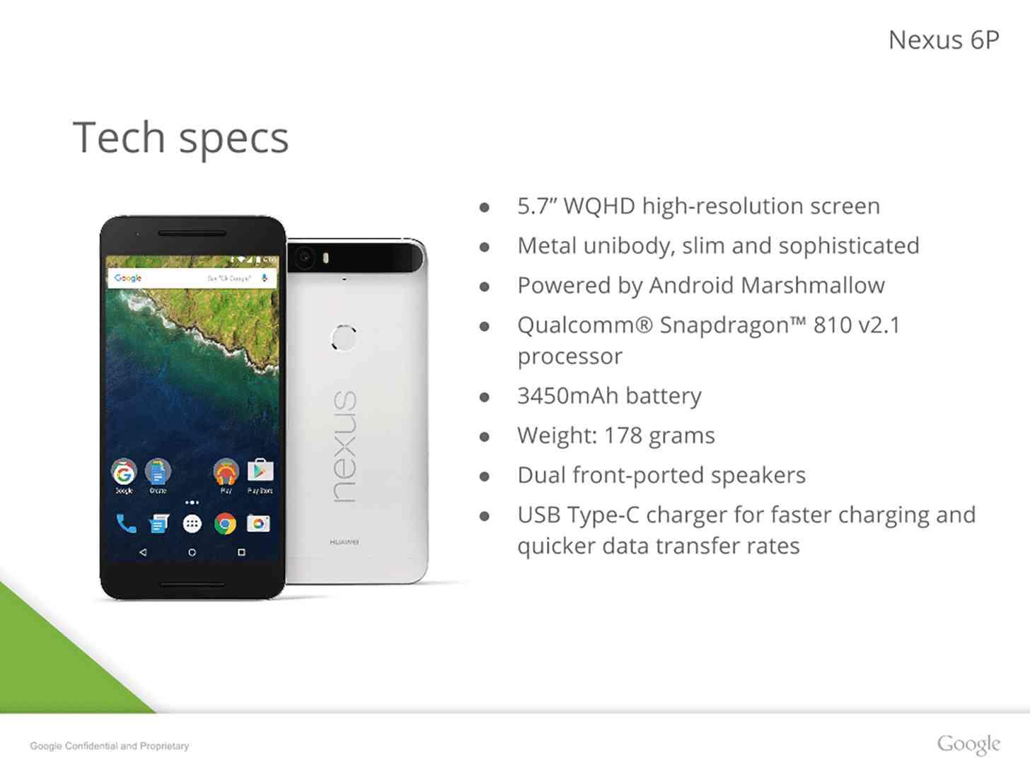 Huawei Nexus 6P specs leak