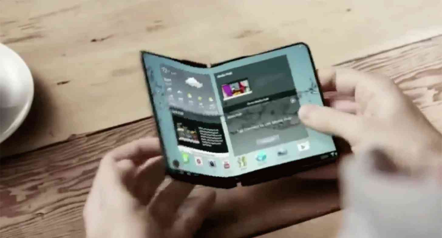 Samsung foldable display smartphone demo large