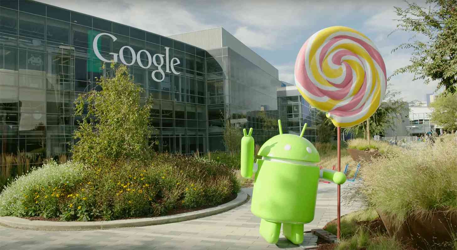 Android Lollipop statue Google