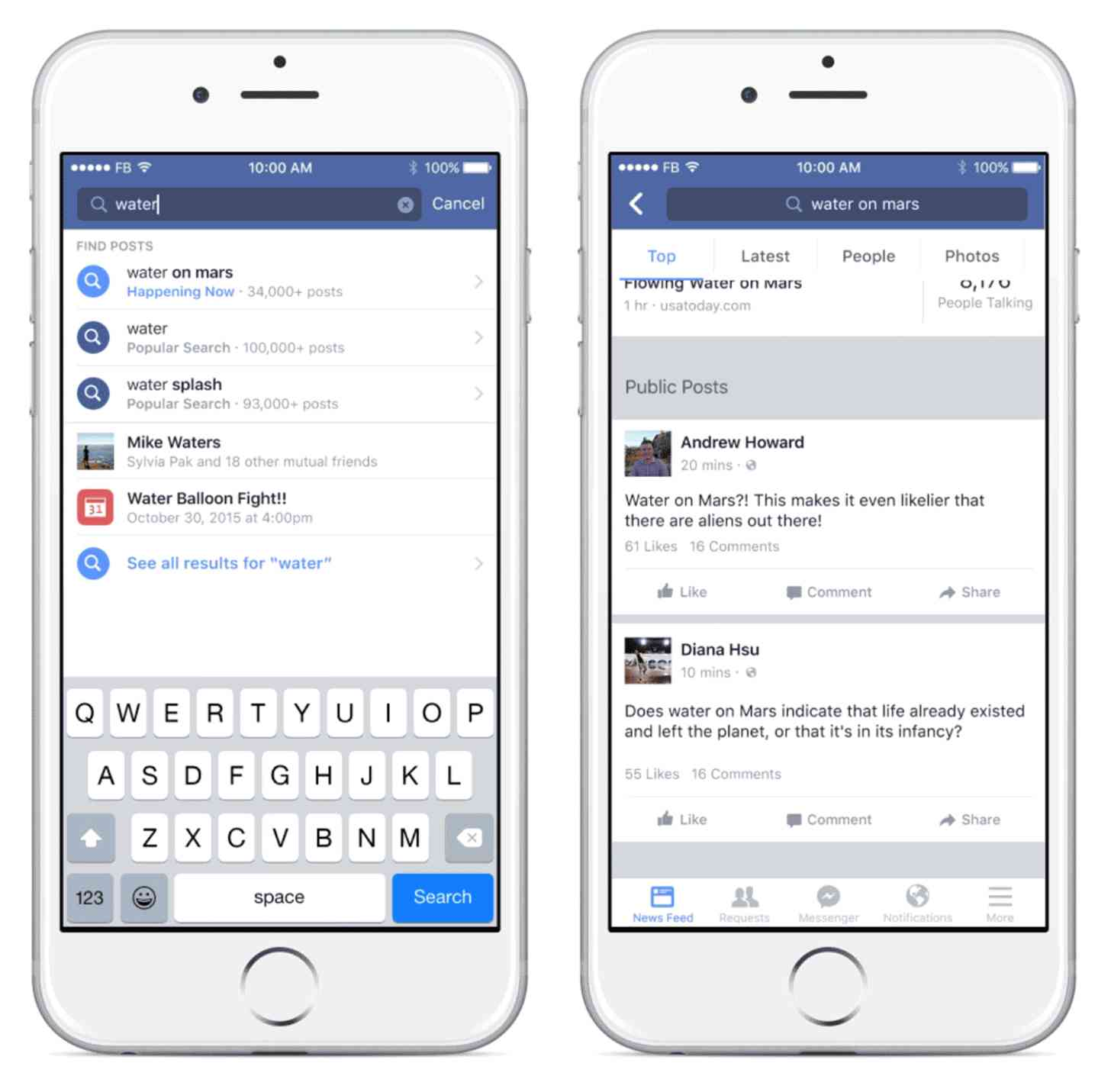 Facebook Search public posts