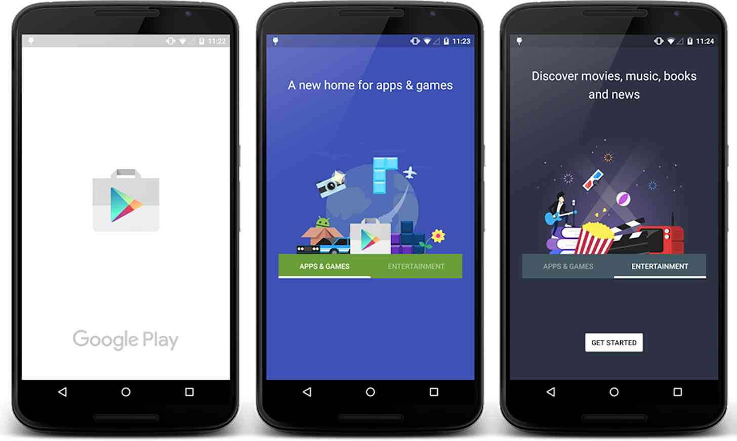 Google Play for Android redesign 1