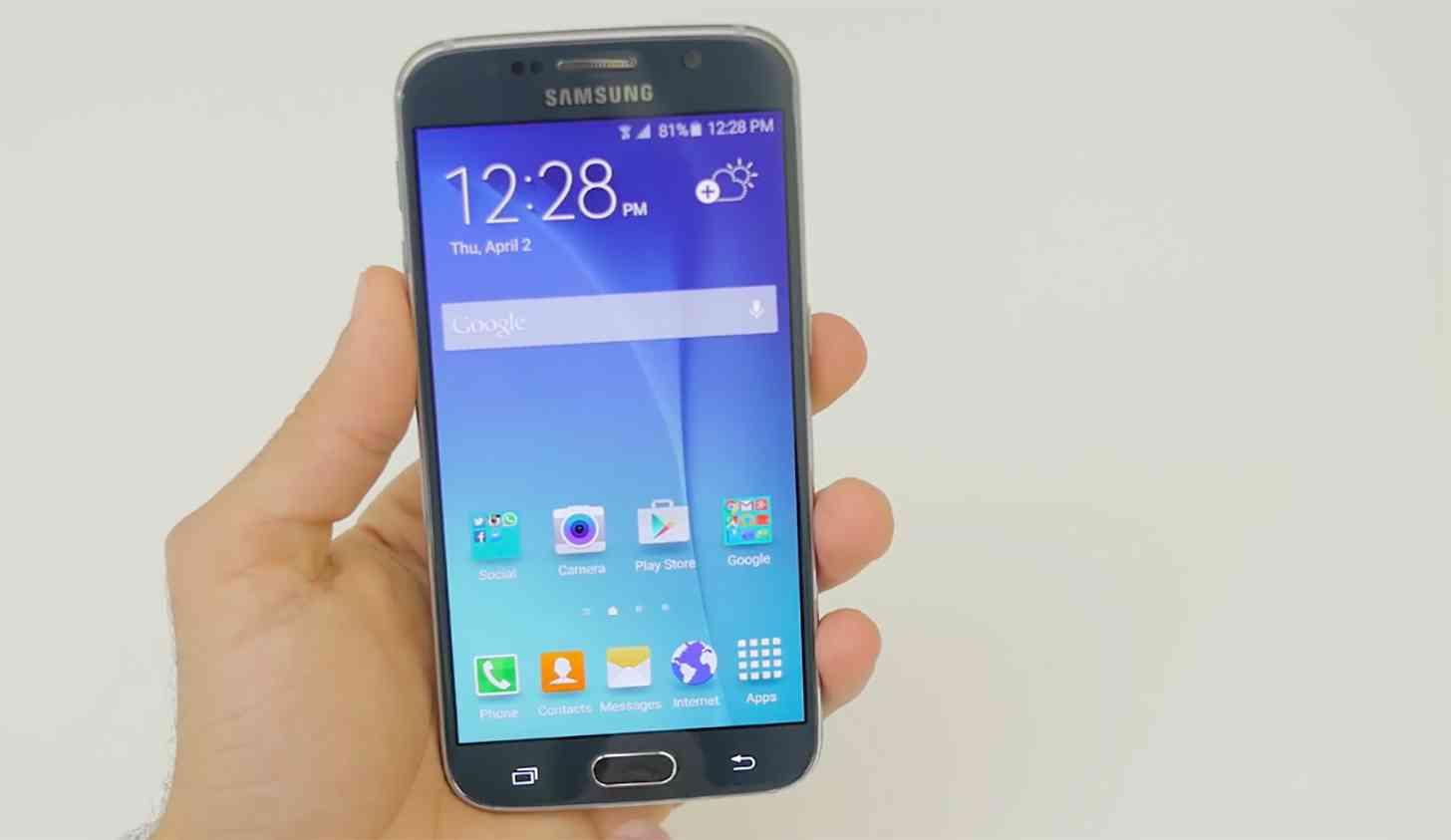 Samsung Galaxy S6 in hand