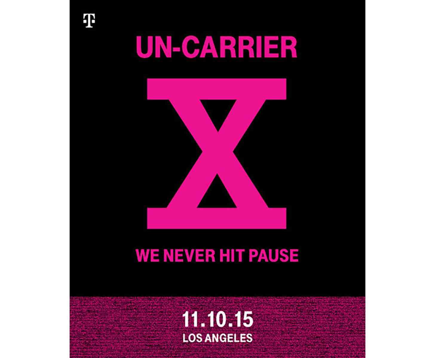 T-Mobile Un-carrier X invite