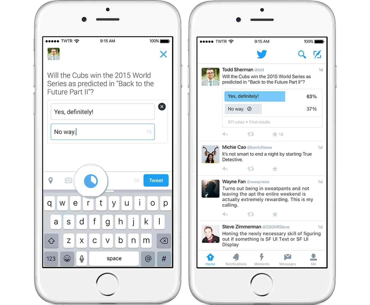 Twitter polls official