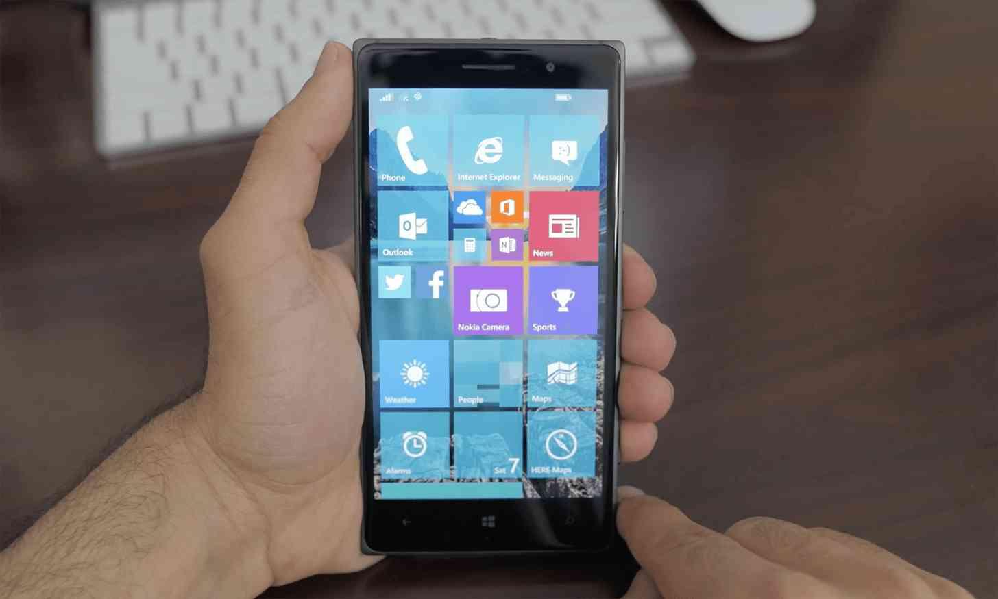 Windows 10 Mobile Lumia 830