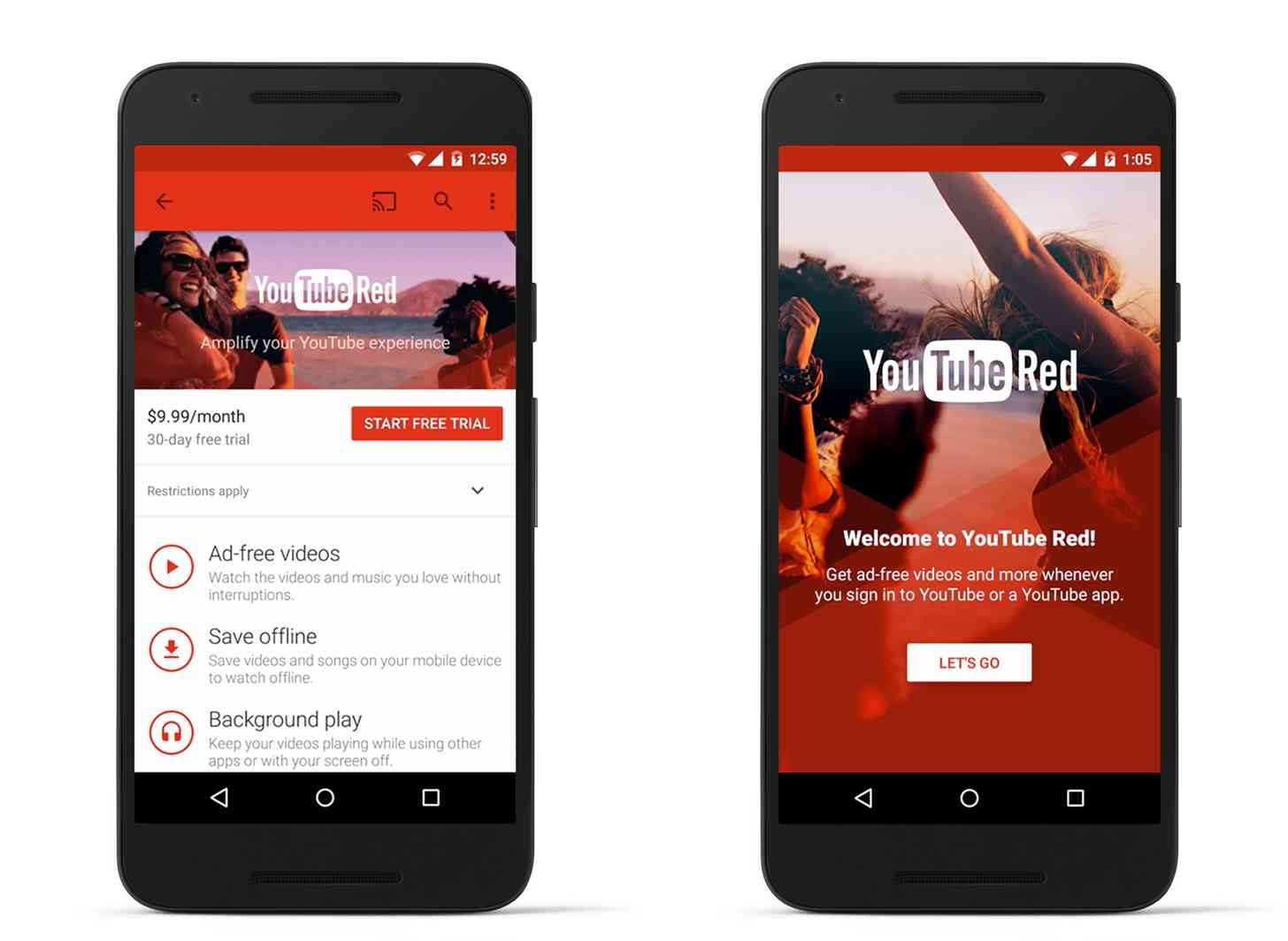 YouTube Red Nexus 6P