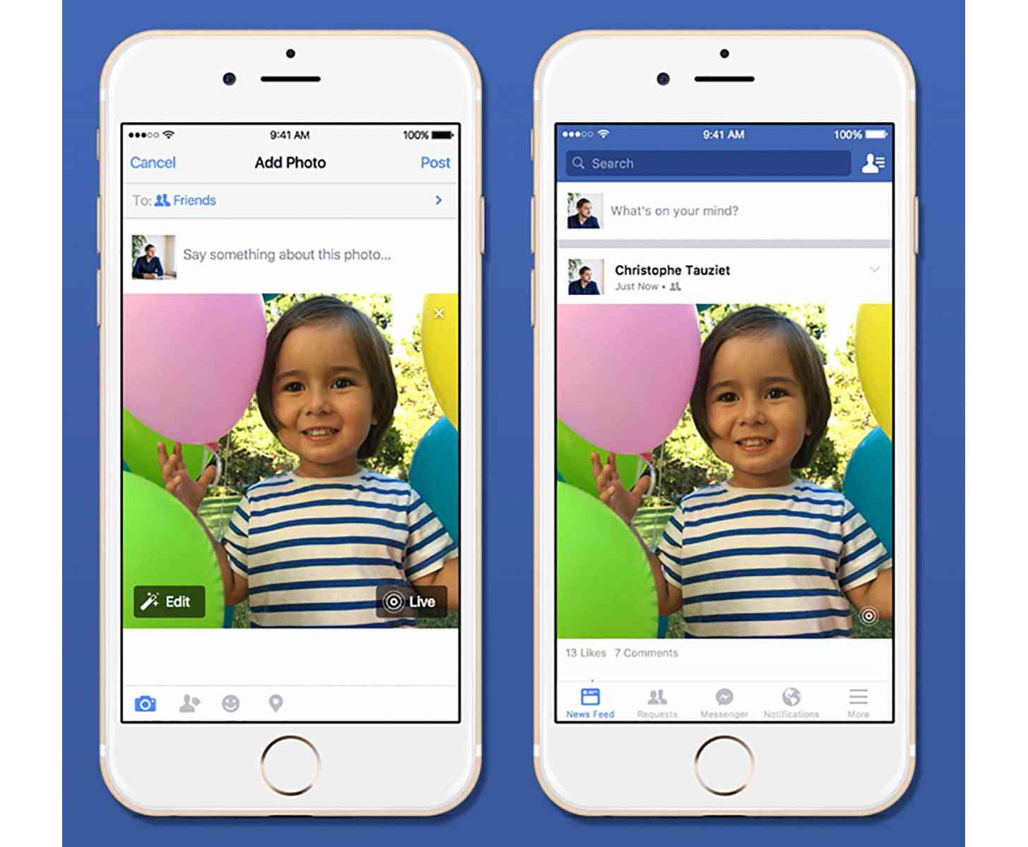 Facebook Live Photos support