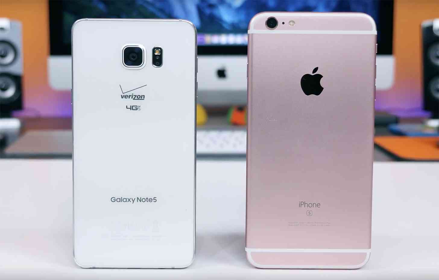 Samsung Galaxy Note 5, Apple iPhone 6s Plus comparison