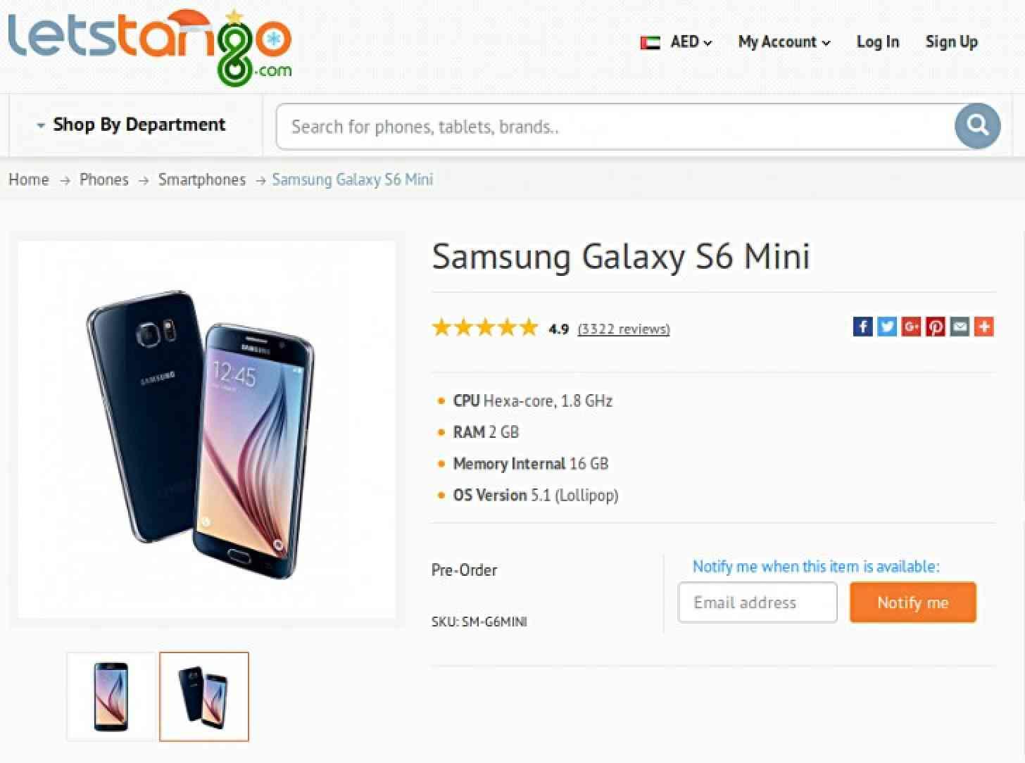 Samsung Galaxy S6 Mini rumored