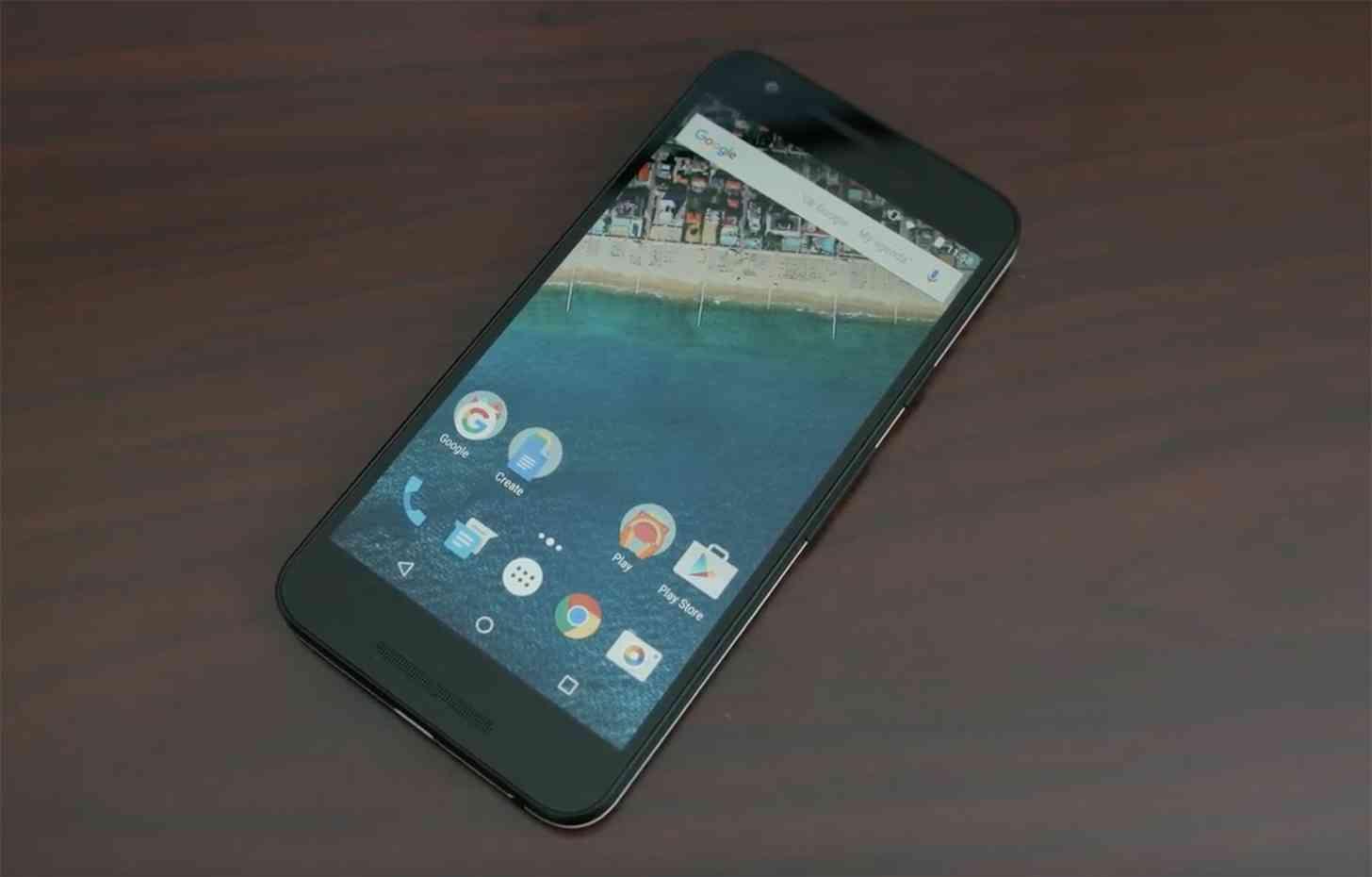 Nexus 5X laying hands on