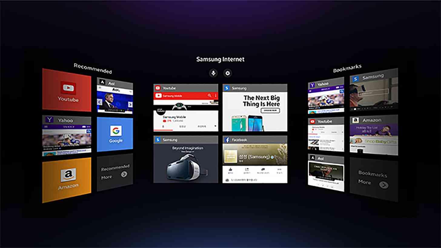 Samsung Gear VR web browser start