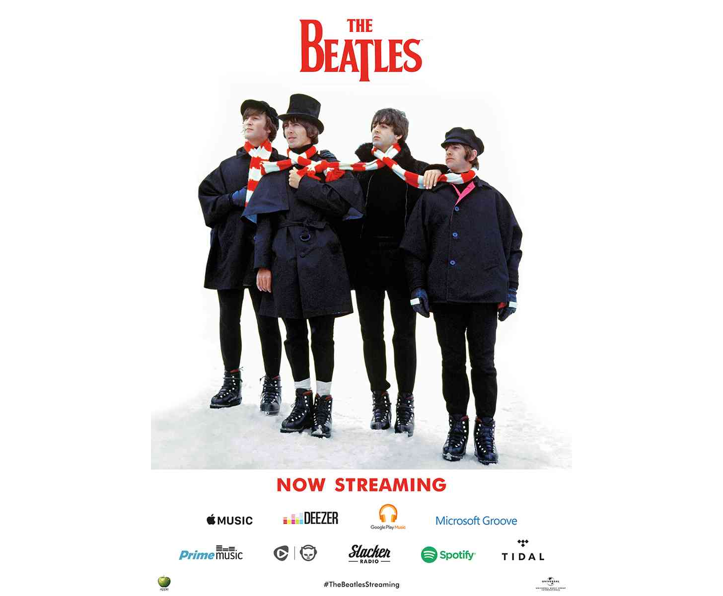 The Beatles streaming music services