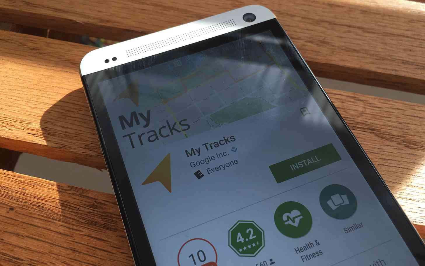 Google My Tracks Android app