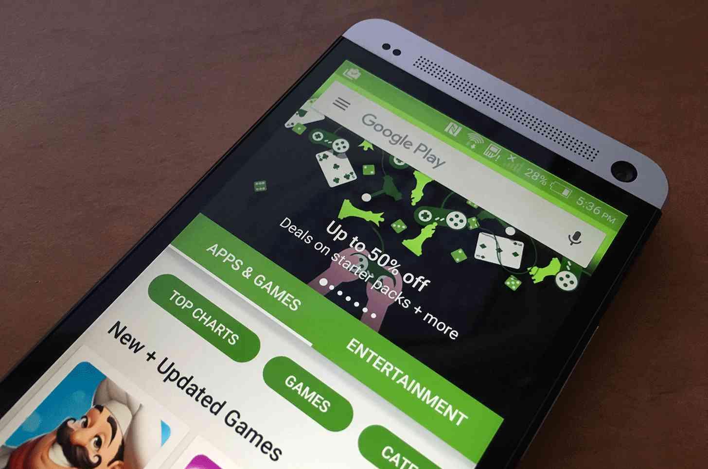 Google Play Store app HTC One M7