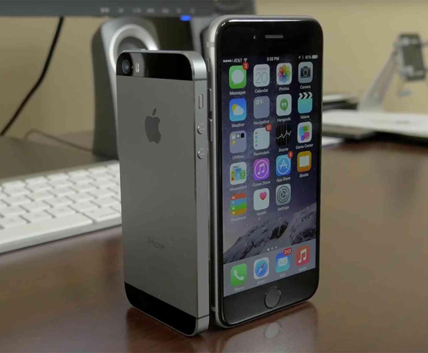 iPhone 5, iPhone 6 comparison