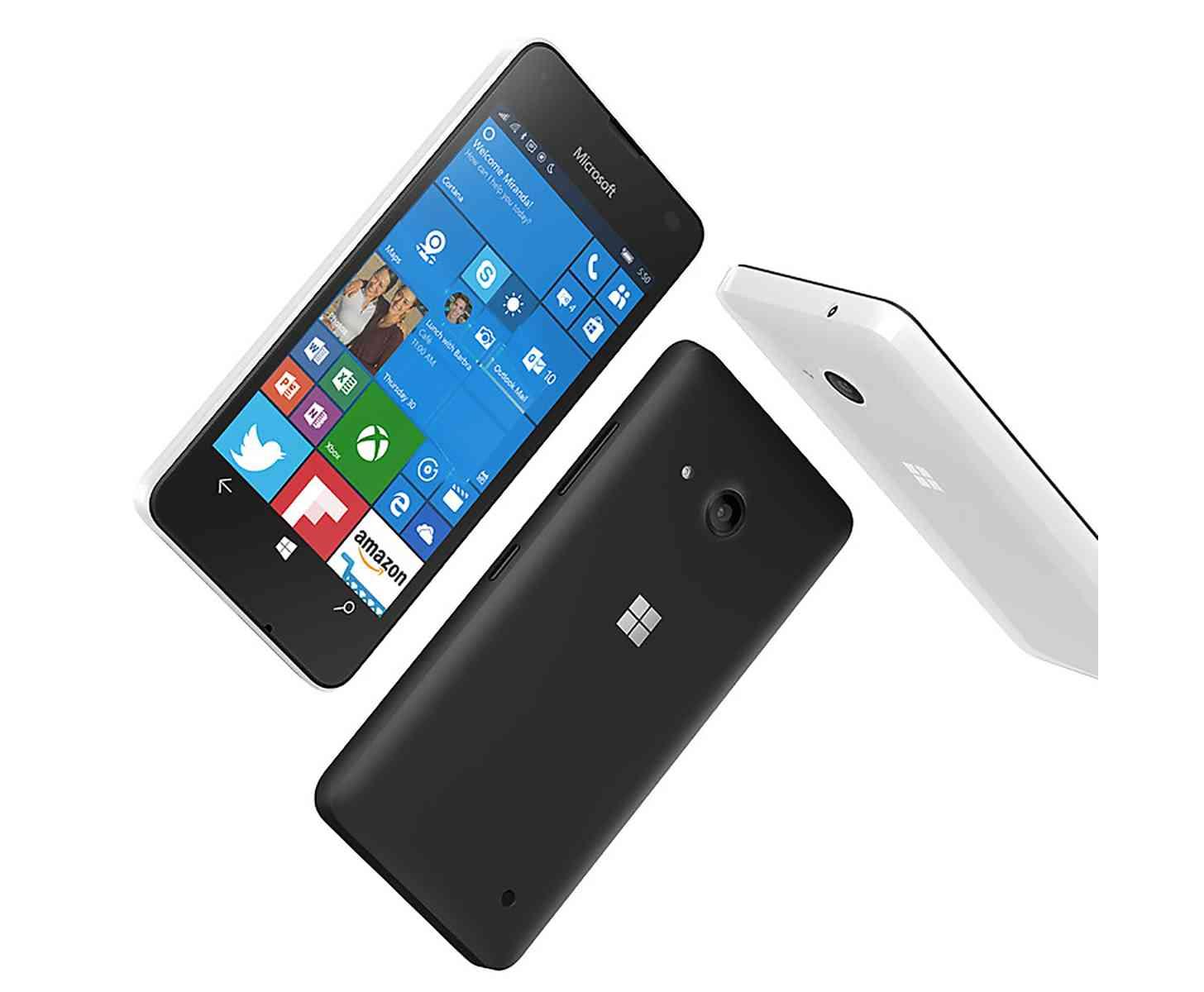 Microsoft Lumia 550 black white
