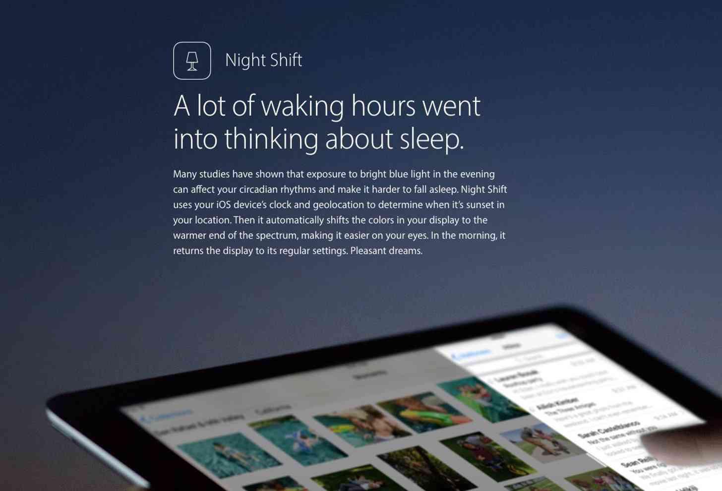 Night Shift iOS