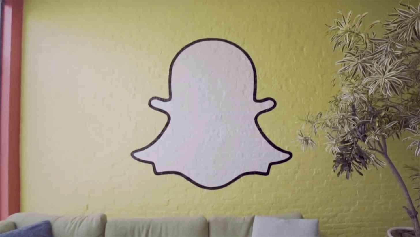 Snapchat logo wall
