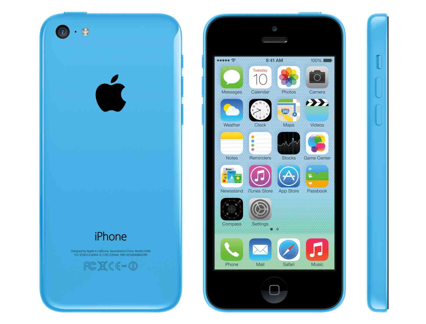 iPhone 5c blue large