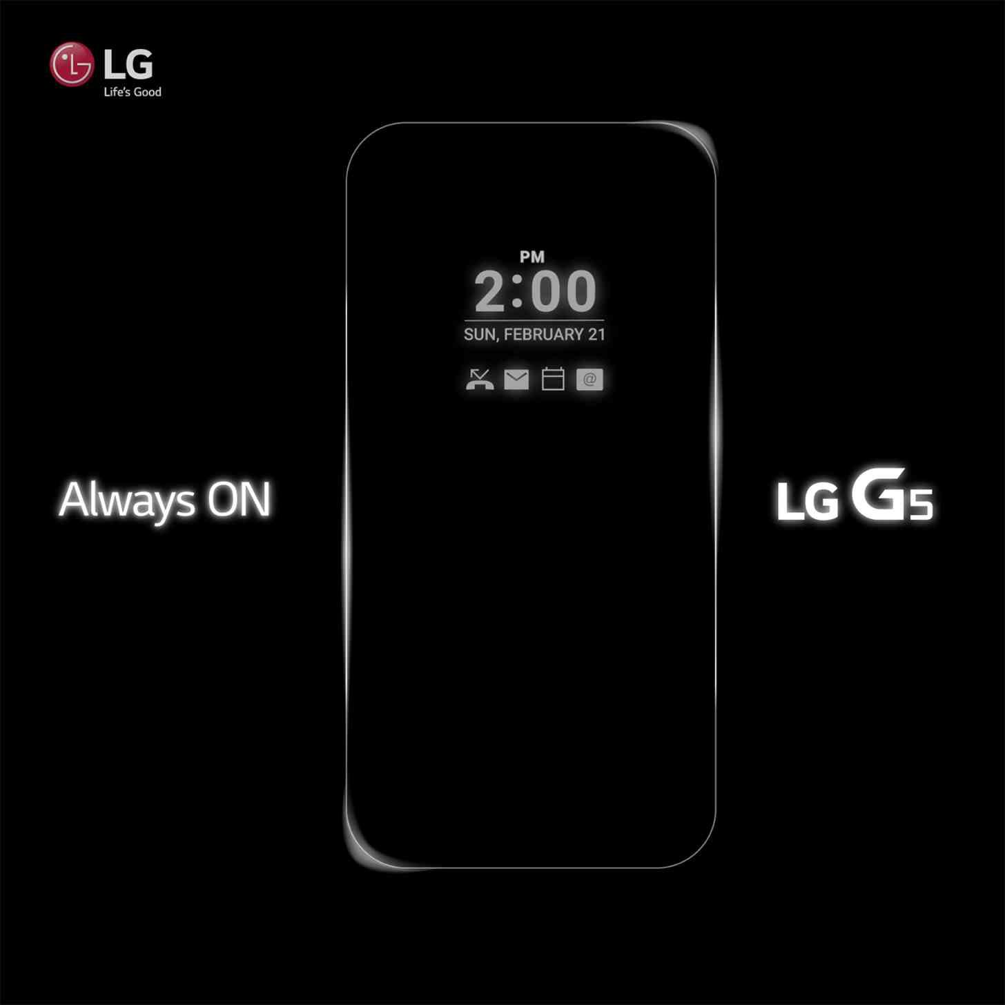 LG G5 always-on display teaser