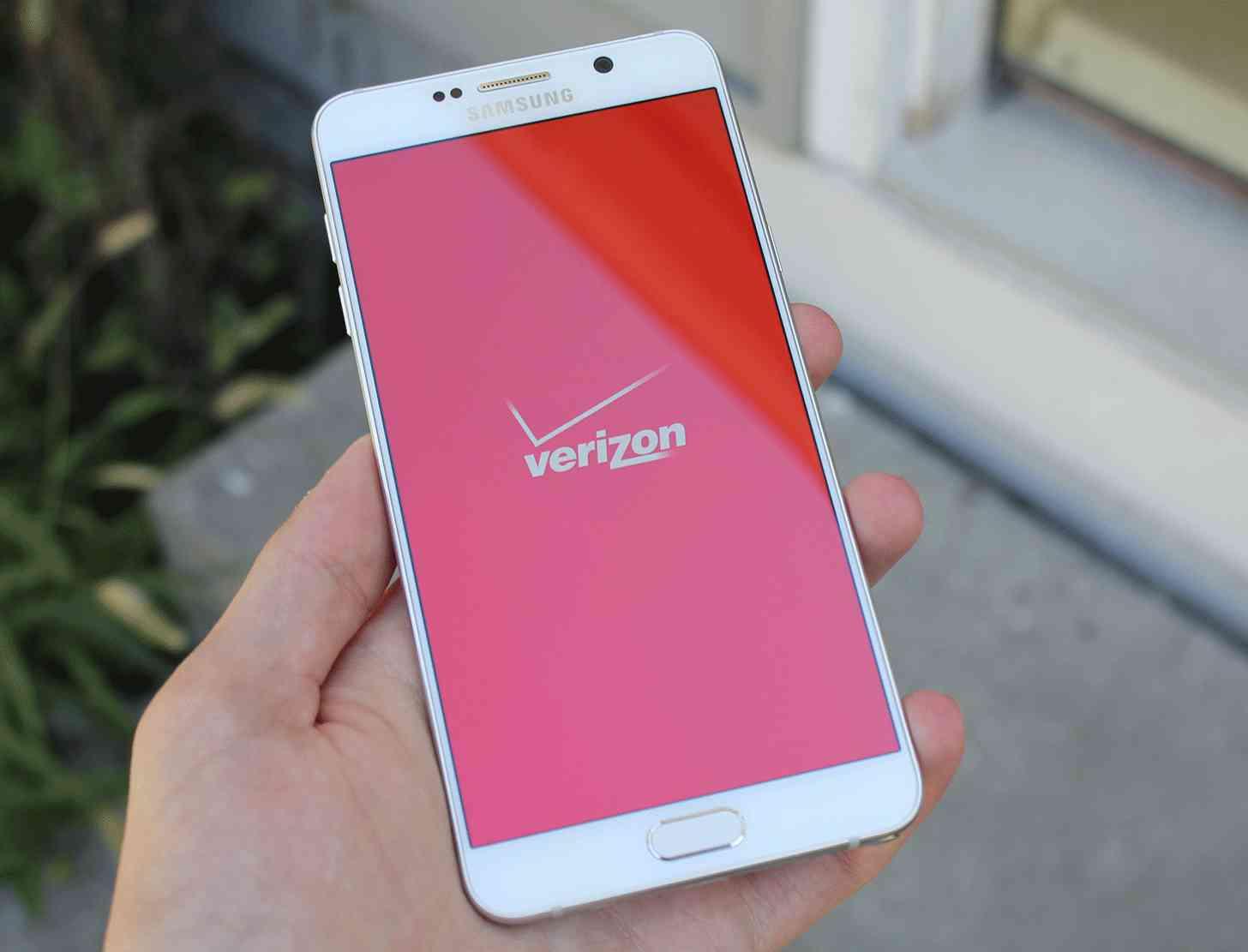Verizon logo Samsung Galaxy Note 5