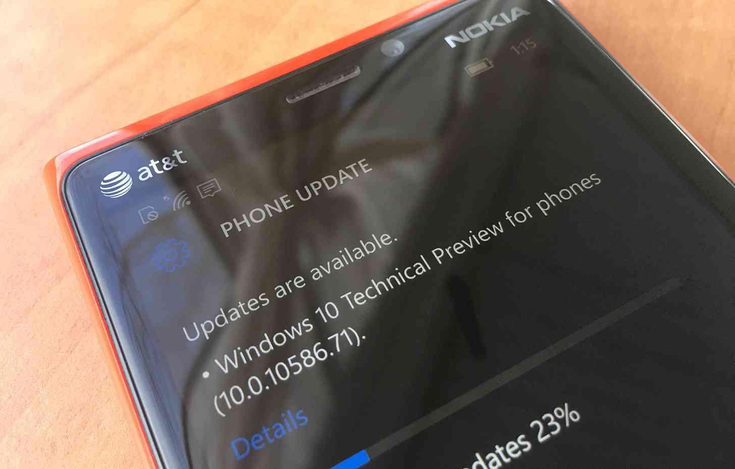 Windows 10 Mobile build 10586.71 update
