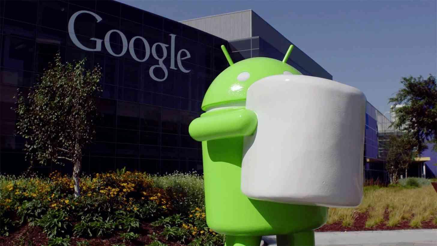Android 6.0 Marshmallow Google statue