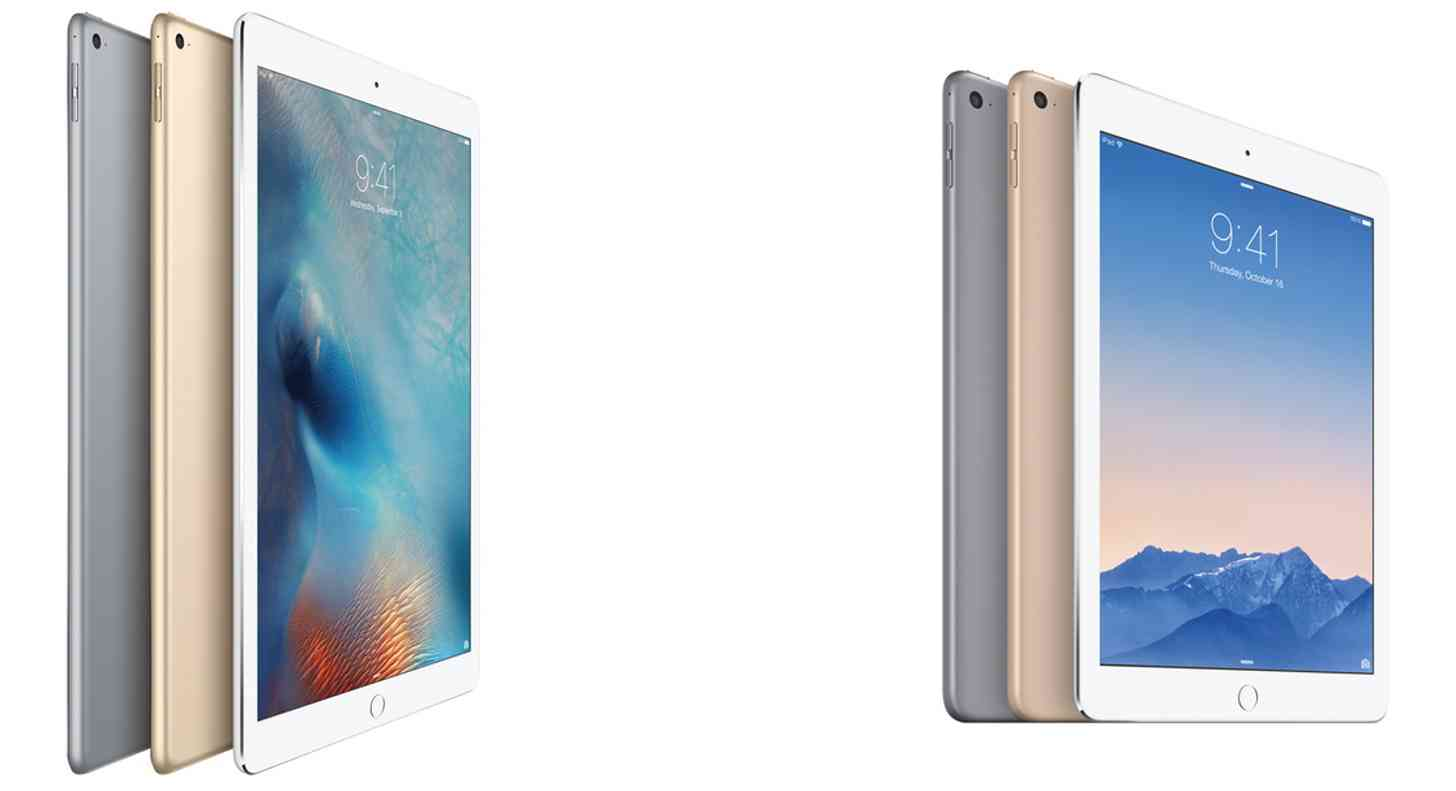 Apple iPad Pro and iPad Air 2