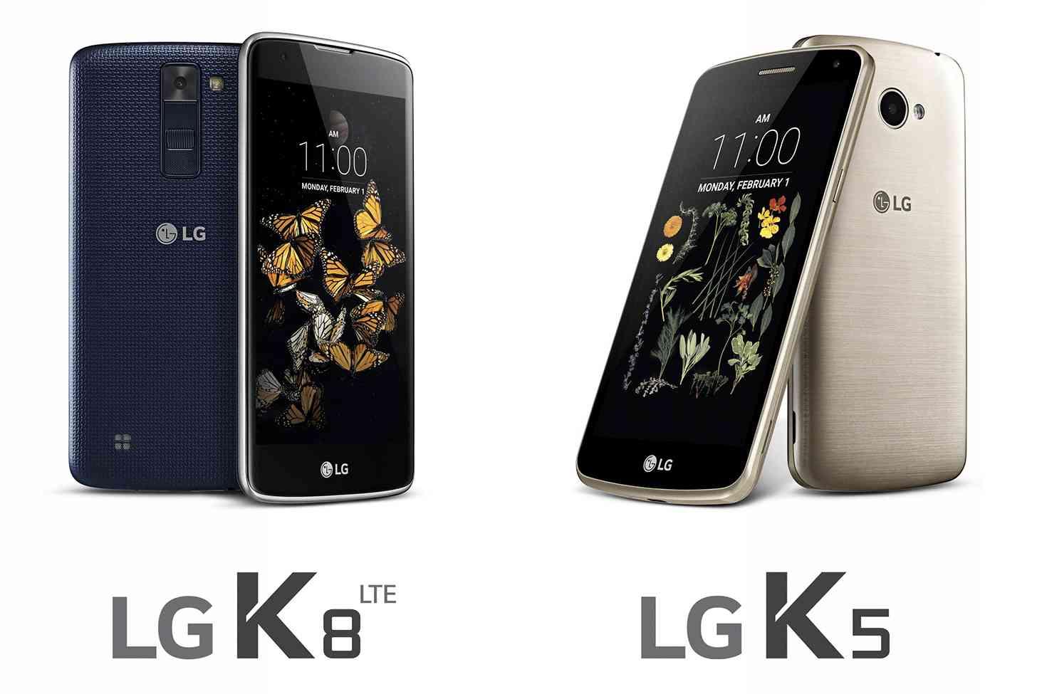 LG K8, LG K5 official