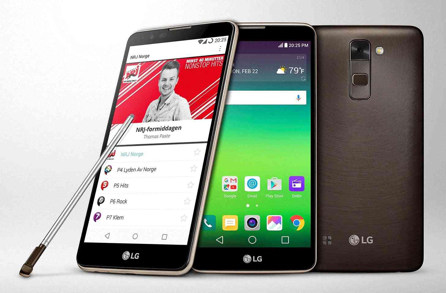 LG Stylus 2 DAB+ digital radio