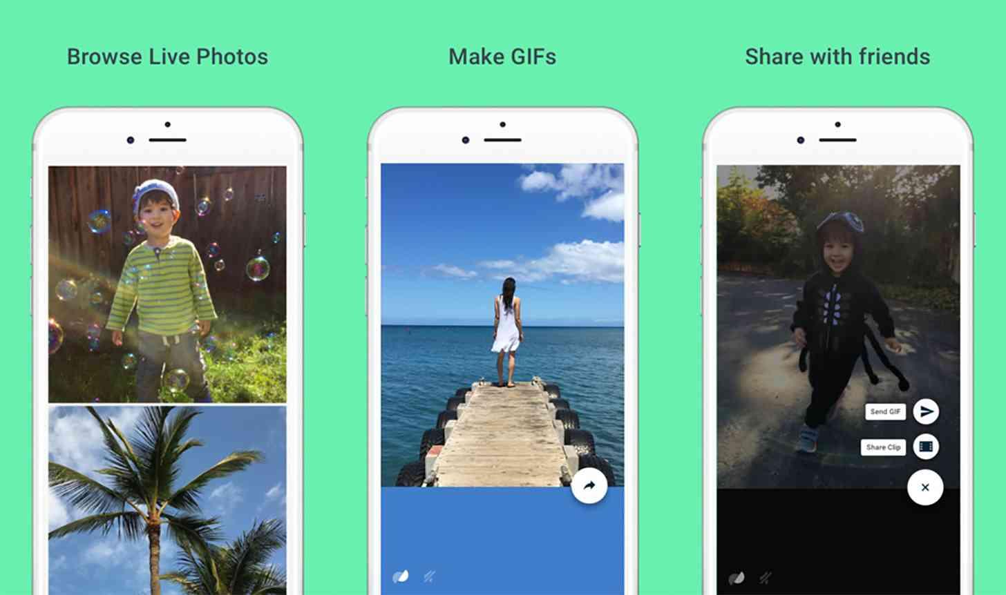 Google Motion Stills app iPhone