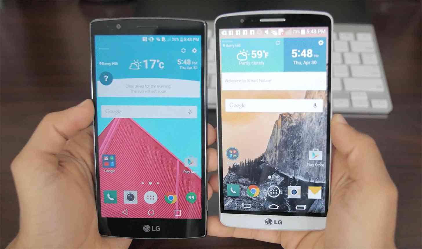 LG G4, LG G3 comparison