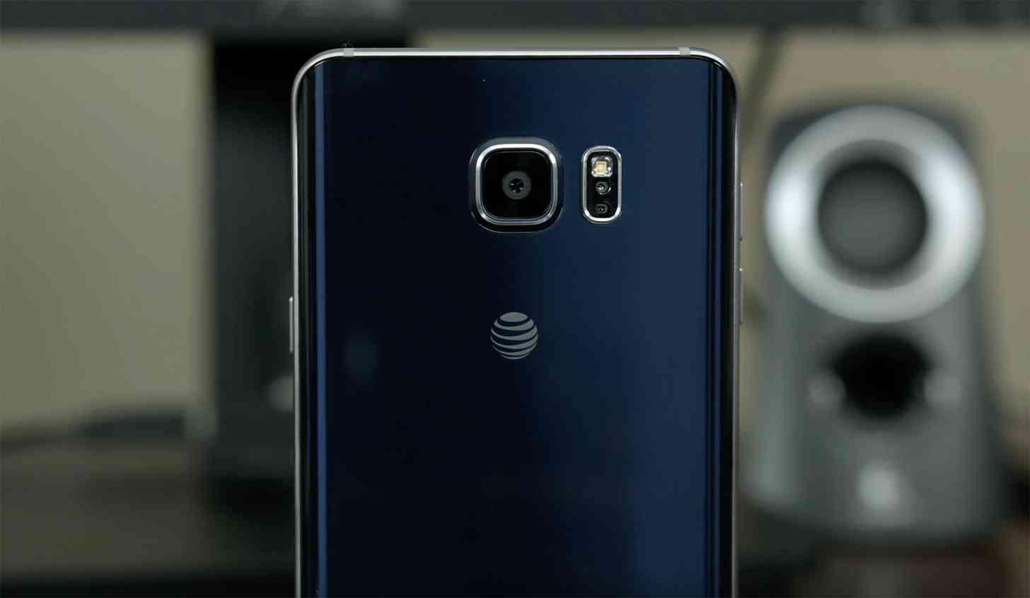 AT&T logo Samsung Galaxy Note 5 rear