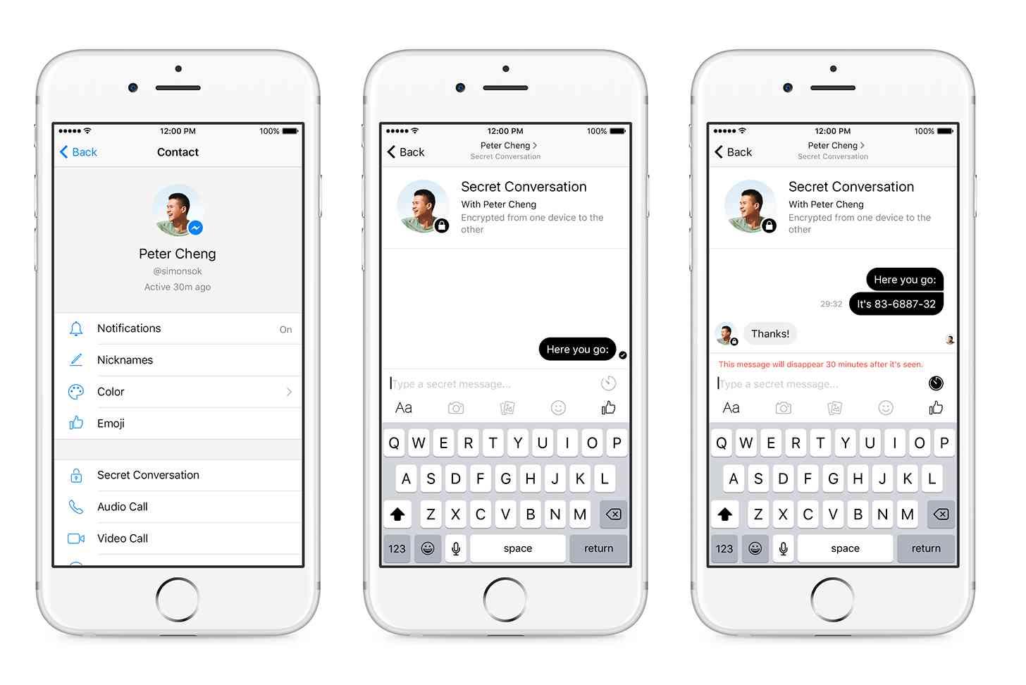 Facebook Messenger Secret Conversations end-to-end encryption