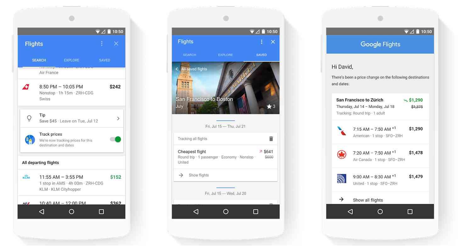 Google Flights update