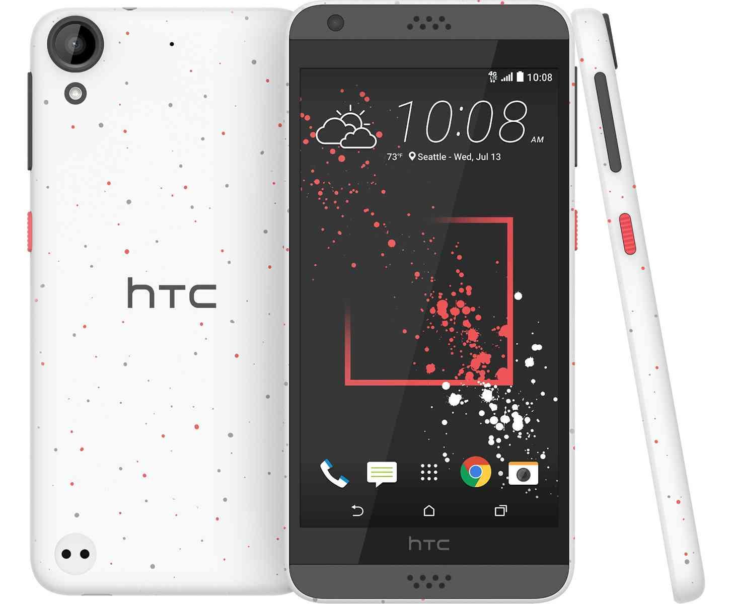 HTC Desire 530 micro-splash