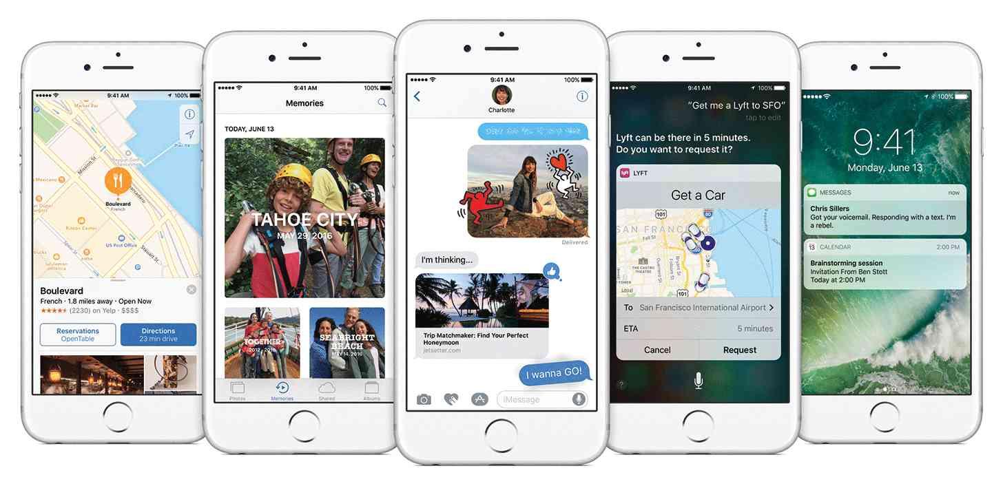 iOS 10 screenshots