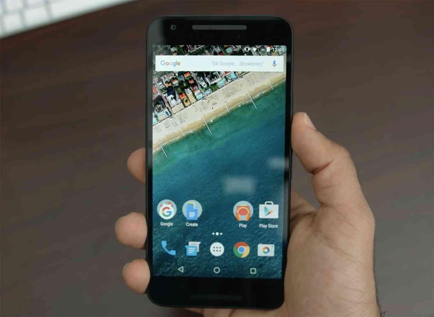 Nexus 5X front hands-on