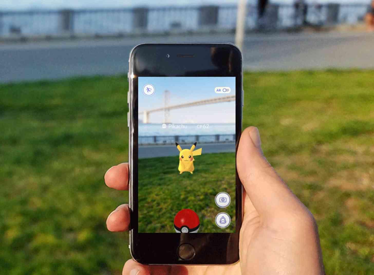 Pokémon Go Pikachu in game