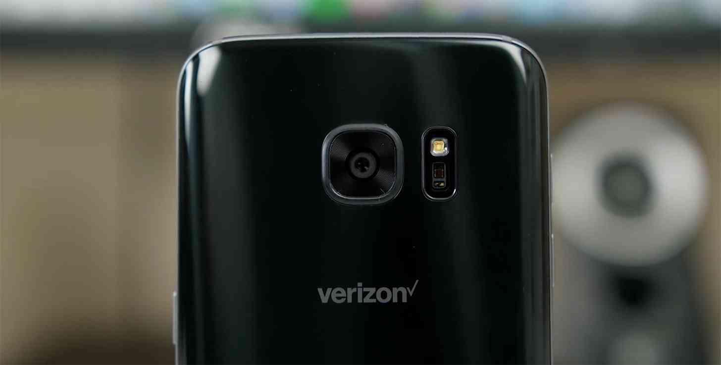 Verizon logo Samsung Galaxy S7
