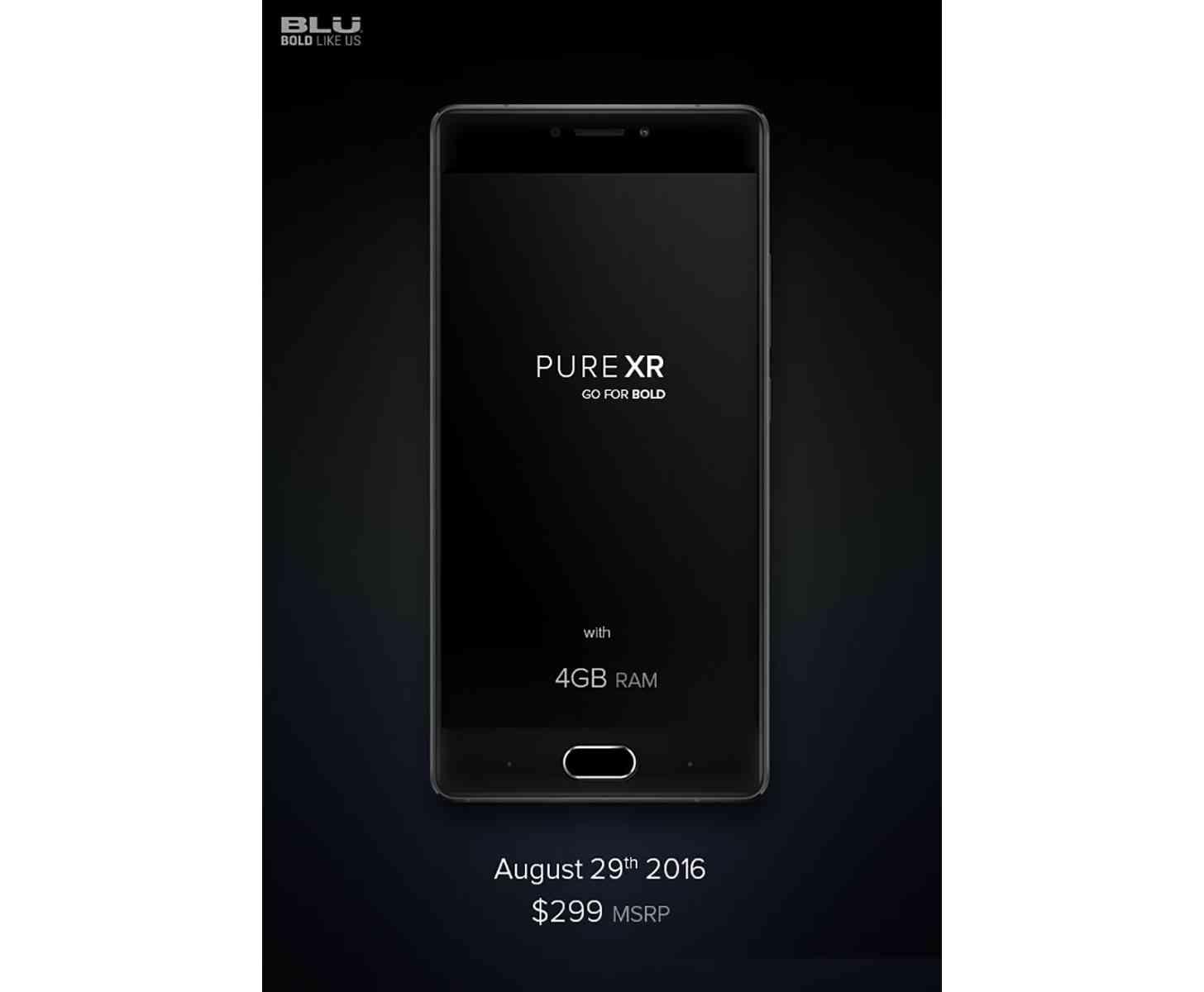 BLU Pure XR flagship teaser