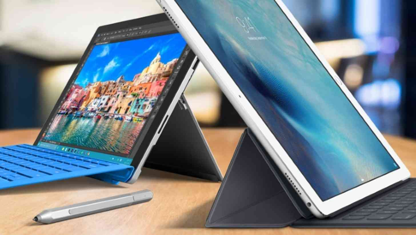 Apple iPad Pro and Microsoft Surface Pro 4