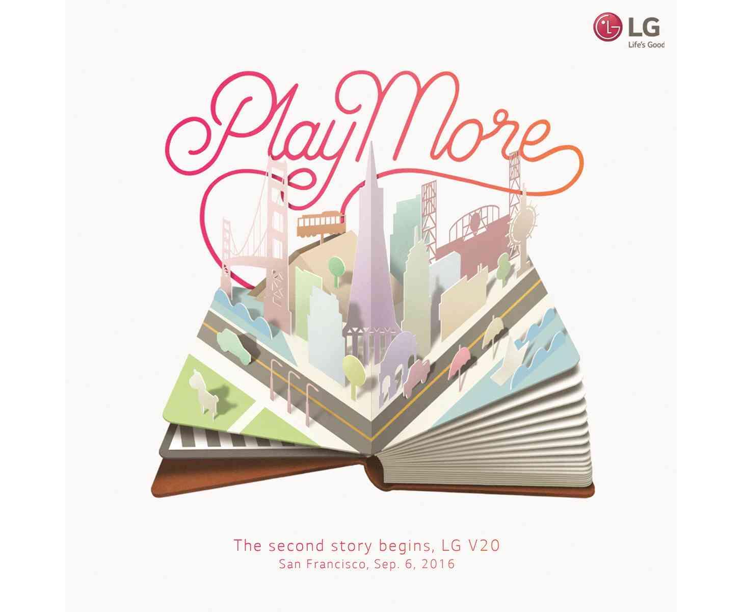 LG V20 event invitation