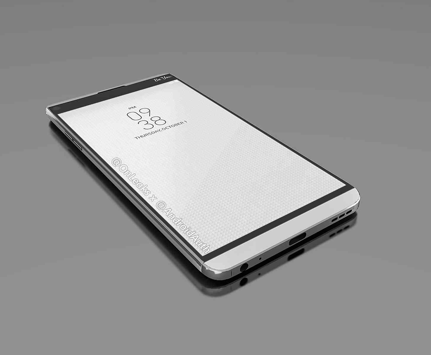 LG V20 render leak front