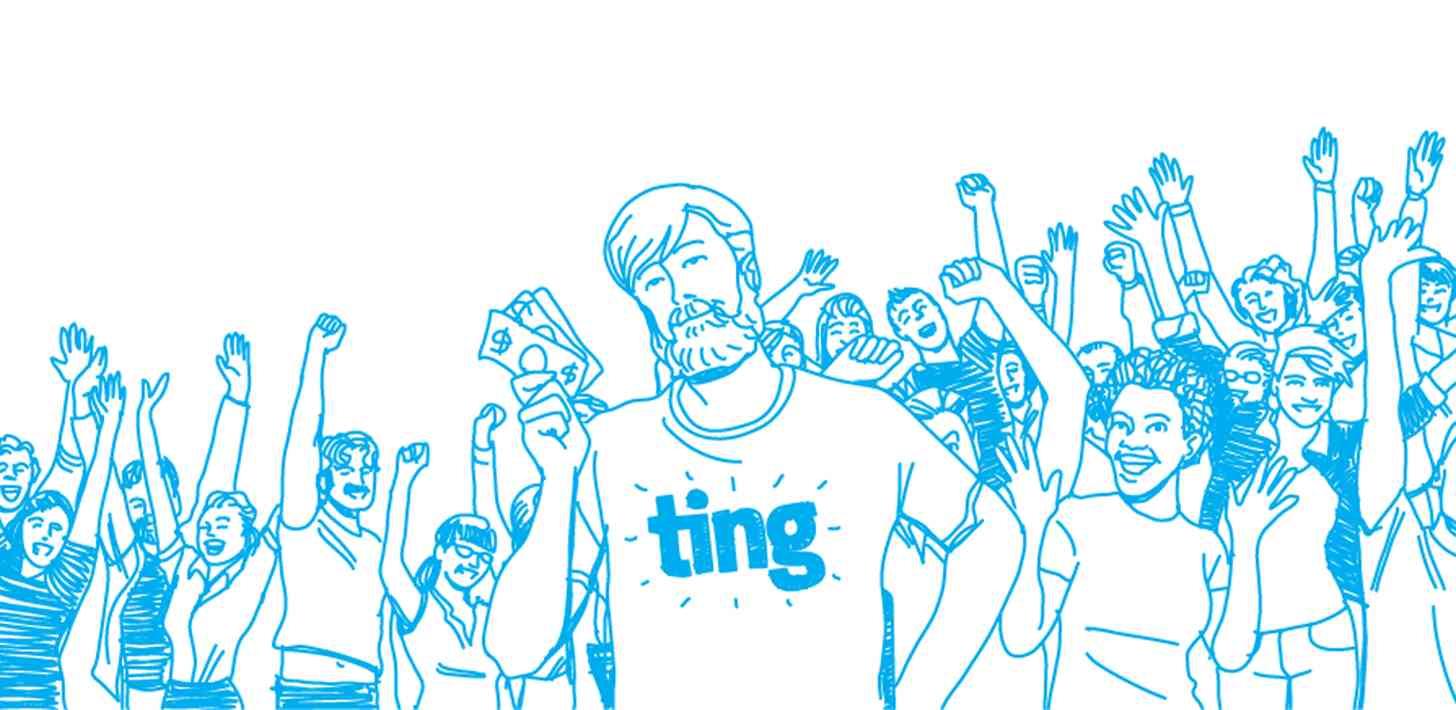 Ting logo crowd