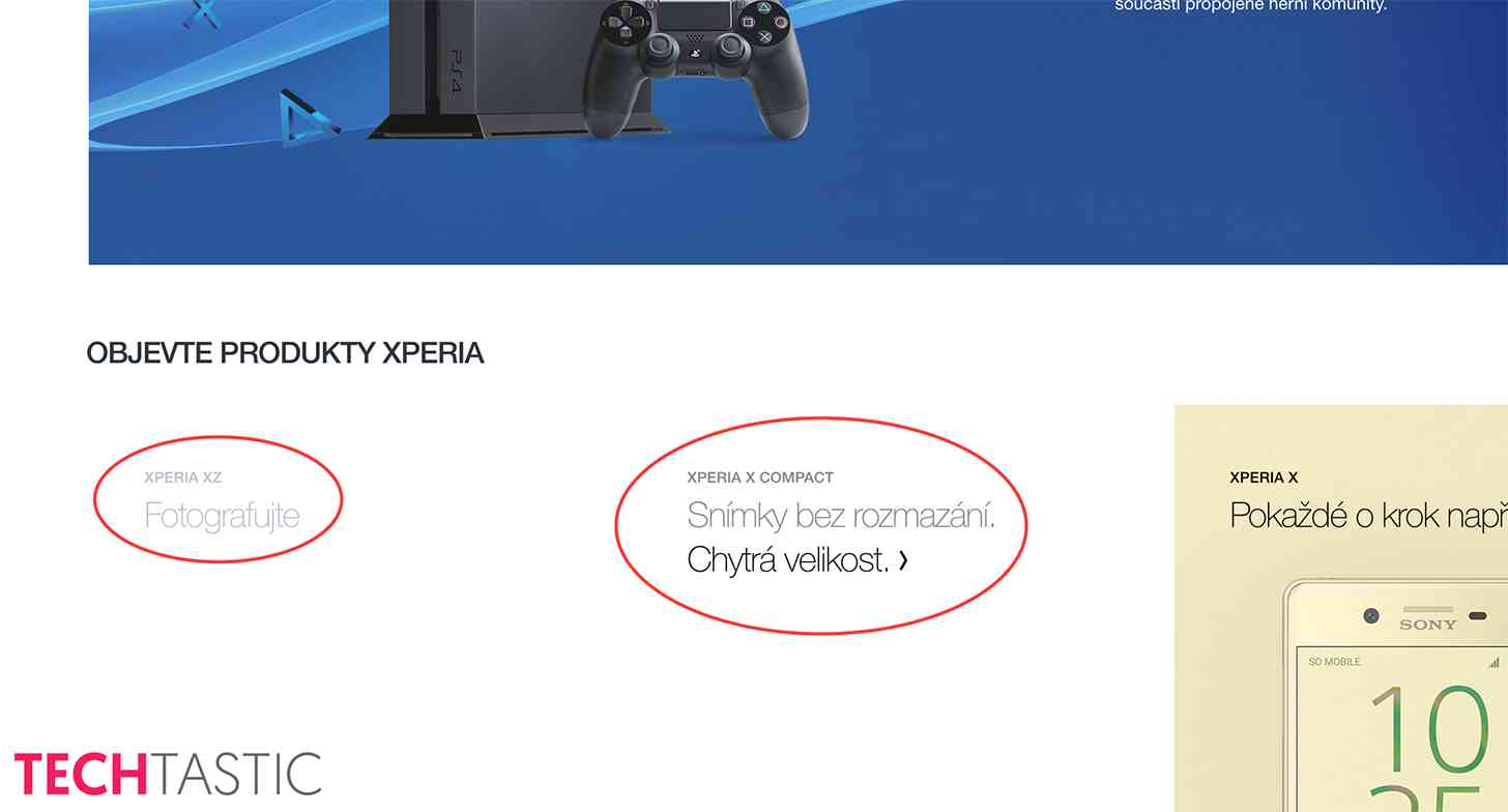 Sony Xperia XZ, X Compact leak