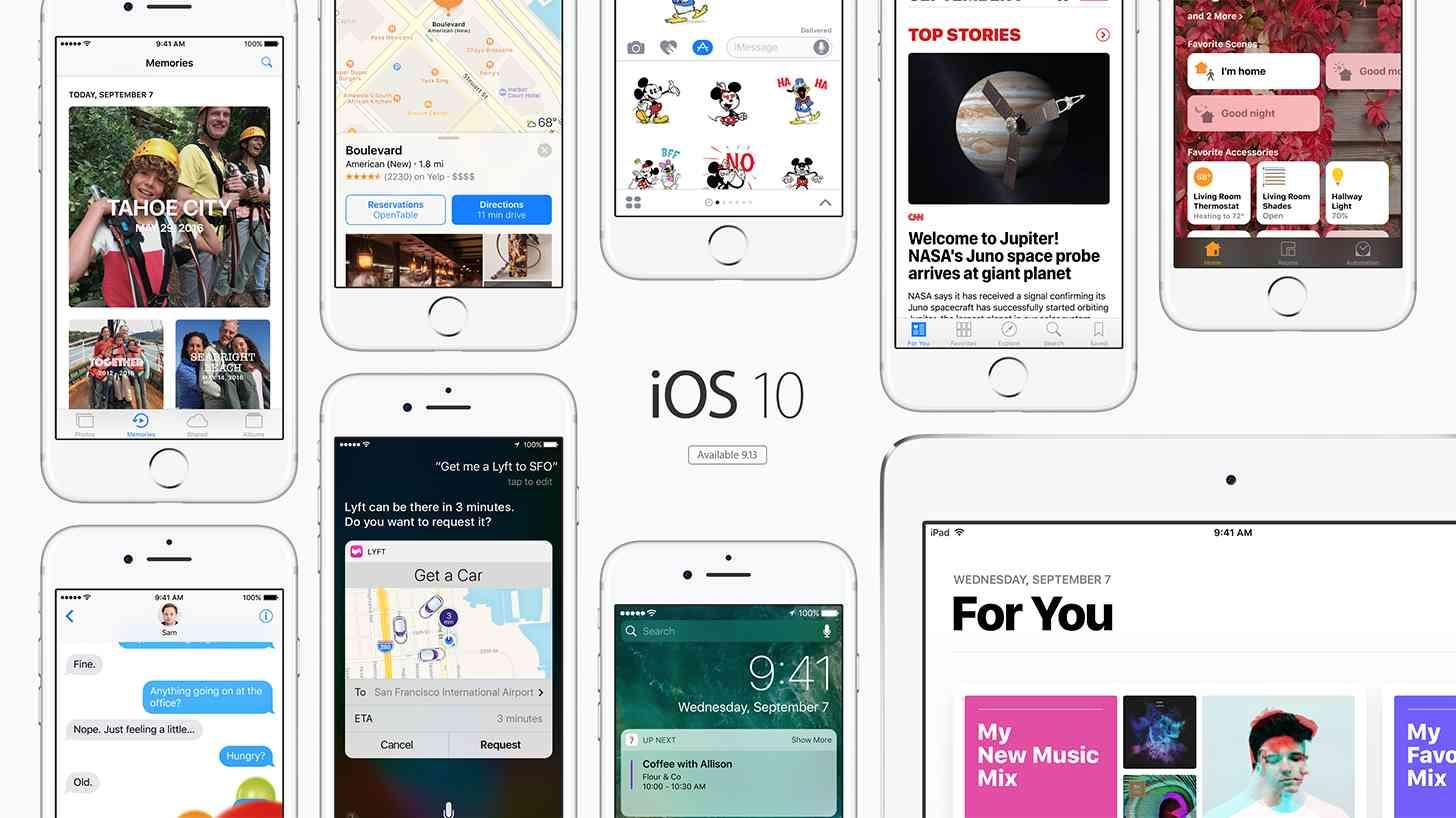 iOS 10 update features