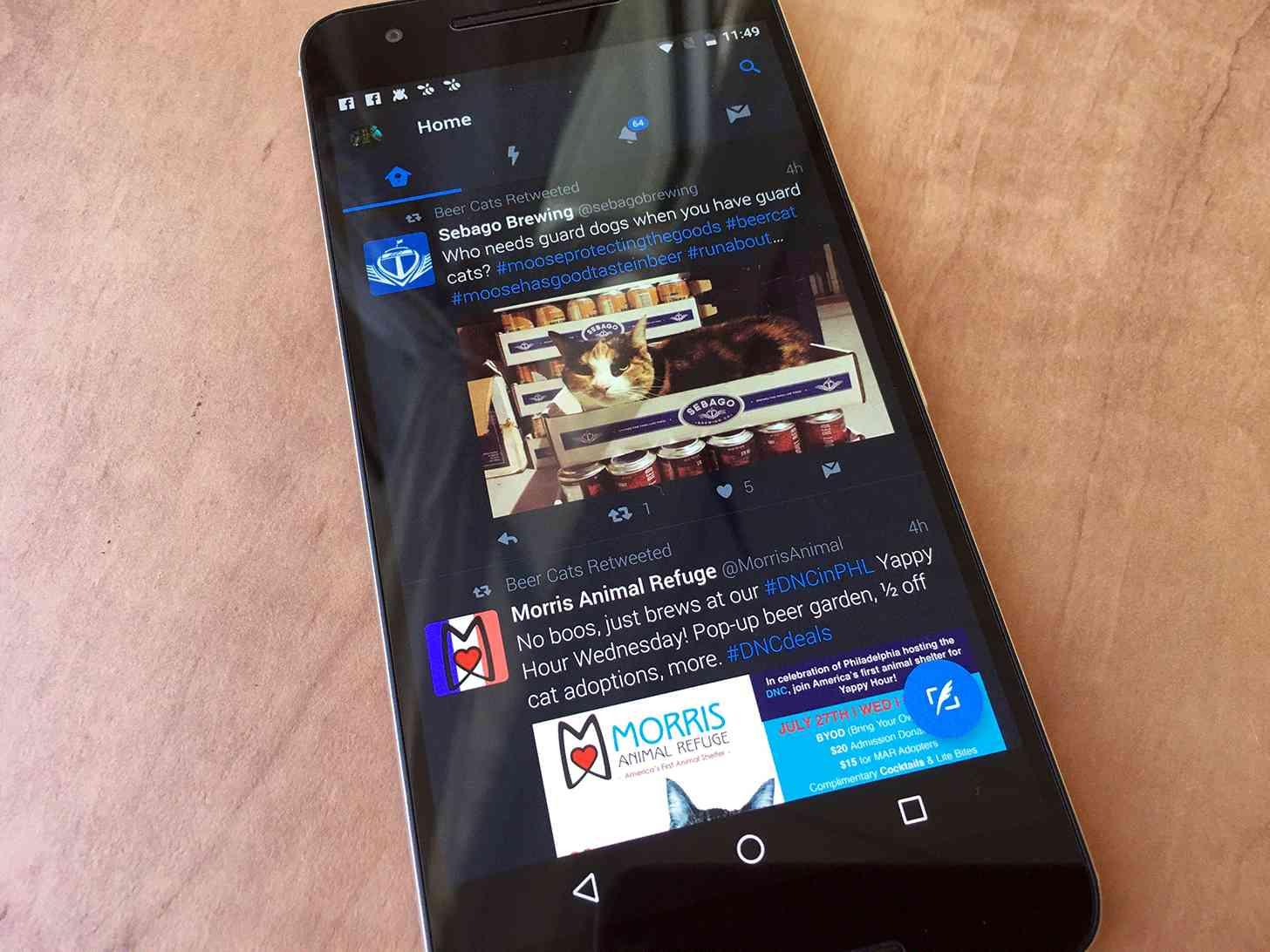 Twitter Android app Nexus 6P