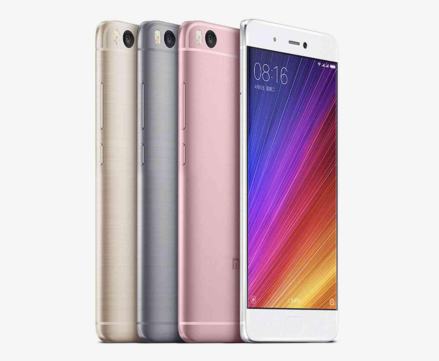 Xiaomi Mi 5s official colors