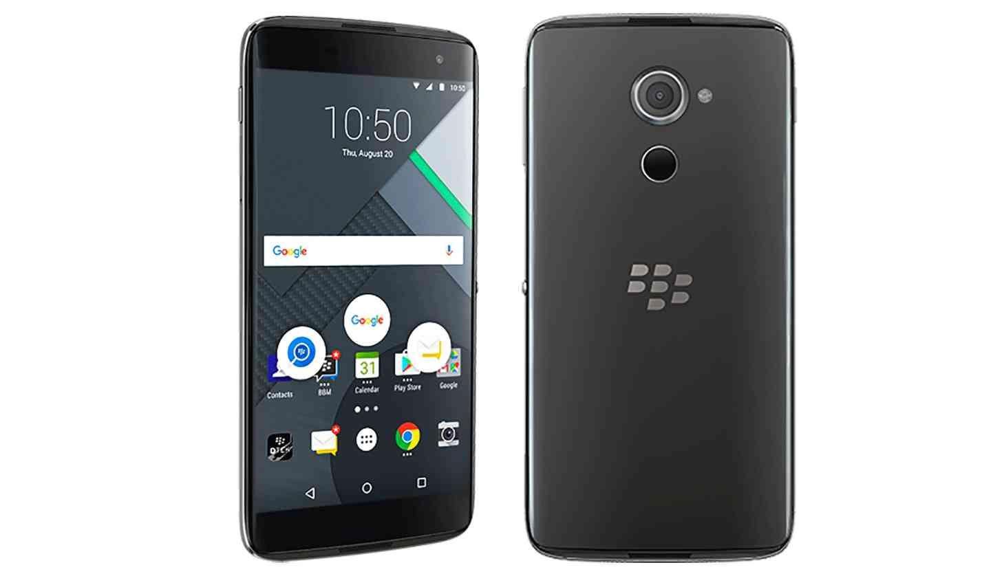 BlackBerry DTEK60 official front rear